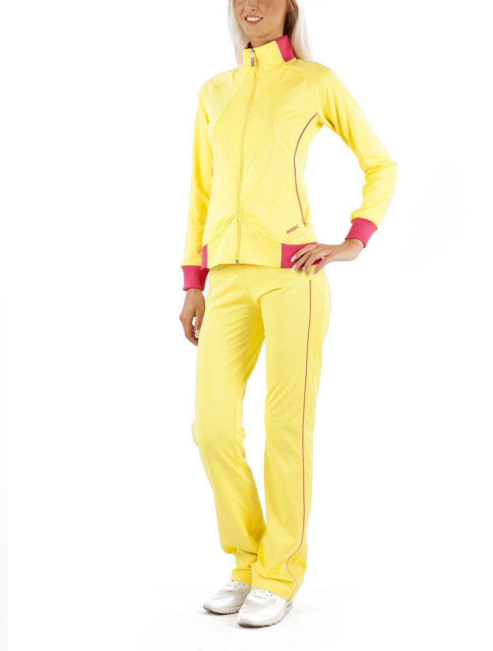 Женский спортивный костюм желтый доставка