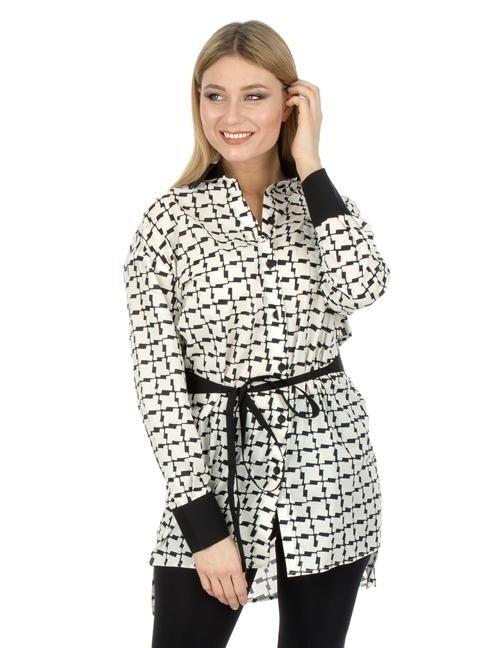 882cf8f8a35 Женская блузка туника в клетку арт. 701