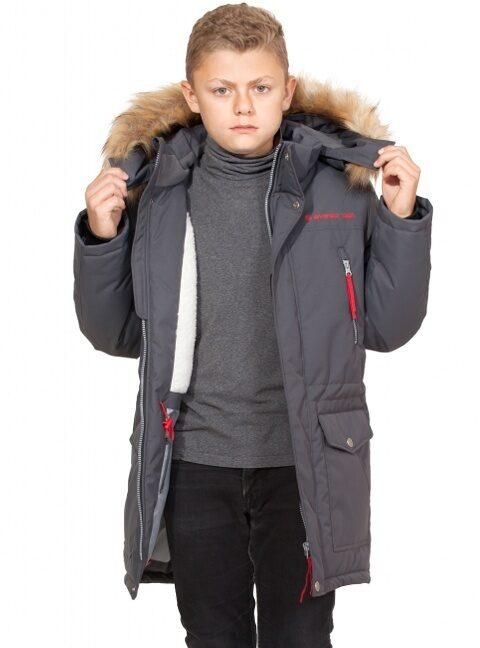1c542123fe2 Куртка парка зимняя на мальчика арт 276 цв. серый