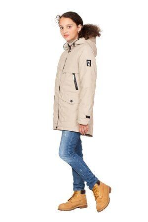 Подростковая куртка осень весна для девочки бежевая