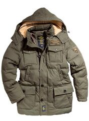 Мужской пуховик Boss Jacket Olive Alpha Industries