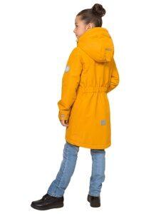 Демисезонная куртка для девочки цвет горчица арт 245 2
