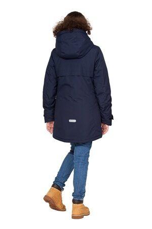 Подростковая куртка осень весна для девочки арт 271 тёмно-синий 5
