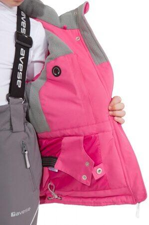 детский зимний костюм на девочку розовый подкладка 1