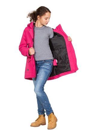 Подростковая куртка осень весна для девочки арт 271 малина 6