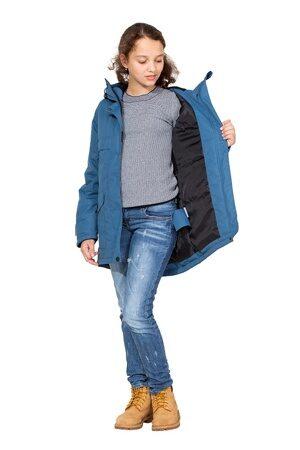 Демисезонная куртка парка на девочку цвет джинс