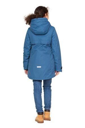 Подростковая куртка осень весна для девочки арт 271 джинс 4