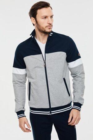 Трикотажный мужской спортивный костюм светло серый 1135 3