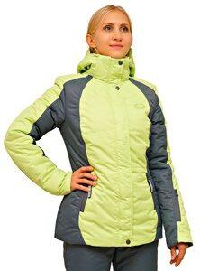 лаймовый женский зимний костюм для прогулок