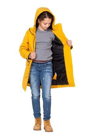 Горчичная куртка парка на девочку осень весна 2018 2019 6