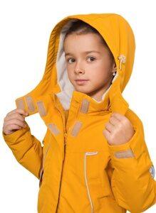 Демисезонная куртка для девочки цвет горчица арт 245 3