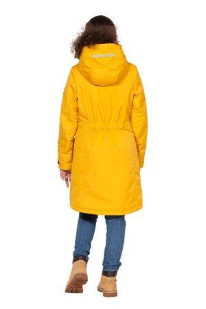 Горчичная куртка парка на девочку осень весна 2018 2019 5