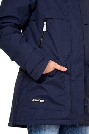 Подростковая куртка осень весна для девочки арт 271 тёмно-синий 2