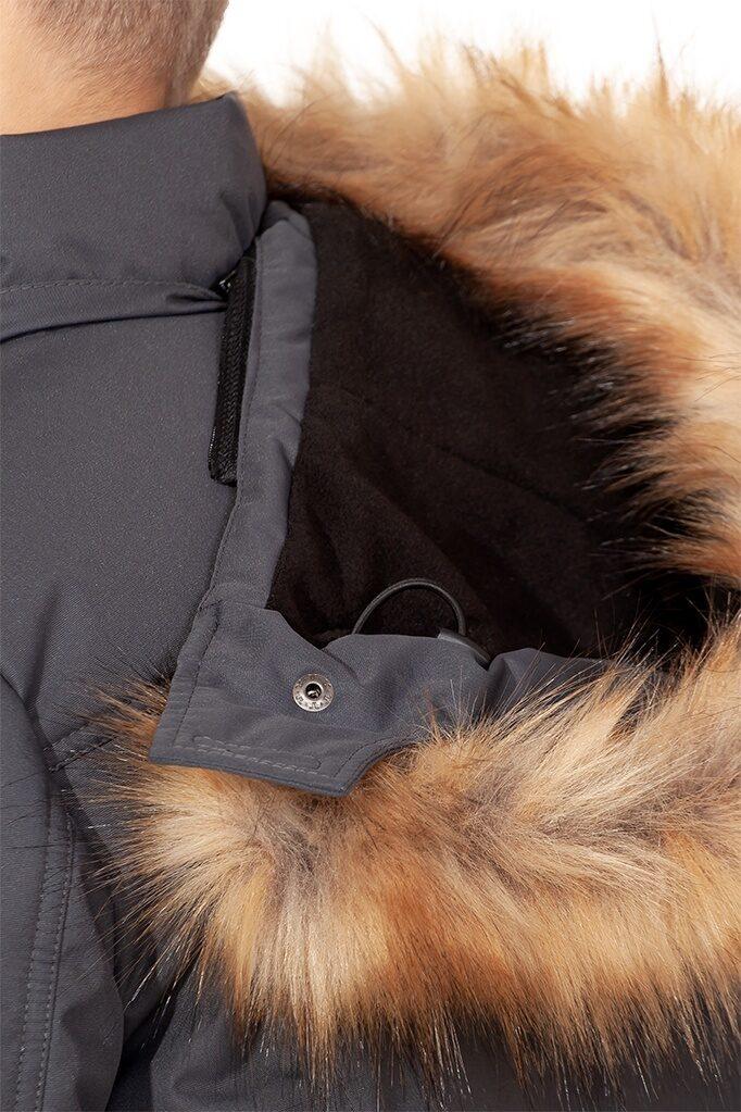 Темно серый куртка аляска на мальчика зима 2018 2019 арт 285 4