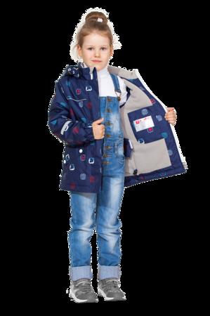 Детская демисезонная куртка арт 275 синий принт 5