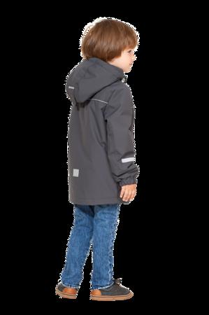 Детская демисезонная куртка арт 275 цвет тёмно серый 3