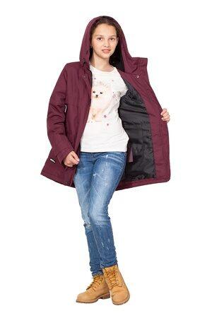 Подростковая куртка осень весна для девочки арт 271 марсала 5