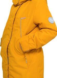 Демисезонная куртка для девочки цвет горчица арт 245 4