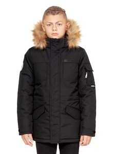 Черная куртка аляска на мальчика зима 2018 2019 арт 285 лицо