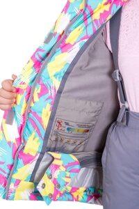 Зимний костюм на девочку розовый Родос 4