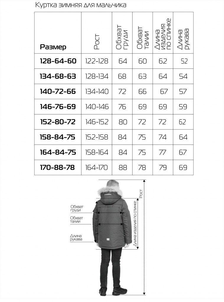Синяя куртка аляска на мальчика зима 2018 2019 арт 285 10