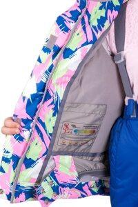 Голубой детский зимний костюм на девочку м-159 4
