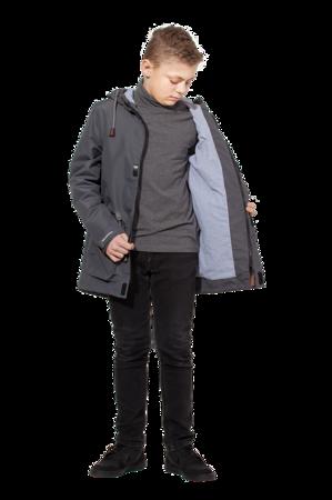 Удлиненная ветровка на мальчика цв. серый арт 264 4