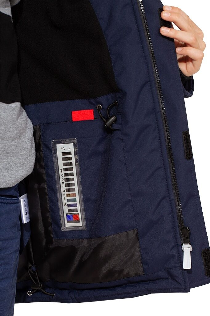 Синяя куртка аляска на мальчика зима 2018 2019 арт 285 9