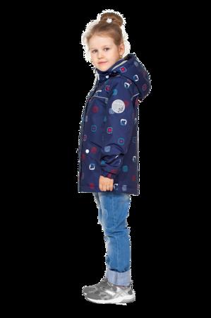 Детская демисезонная куртка арт 275 синий принт 2
