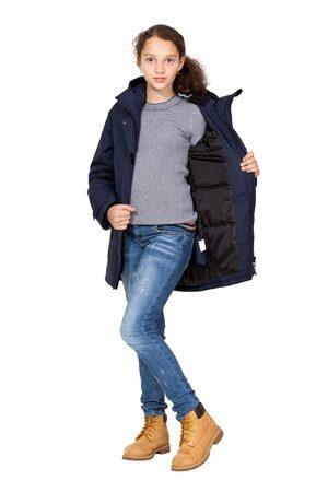 Подростковая куртка осень весна для девочки арт 271 тёмно-синий 6
