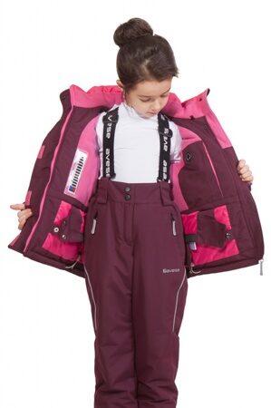 детский зимний костюм на девочку до минус 30 марсала подкл 2