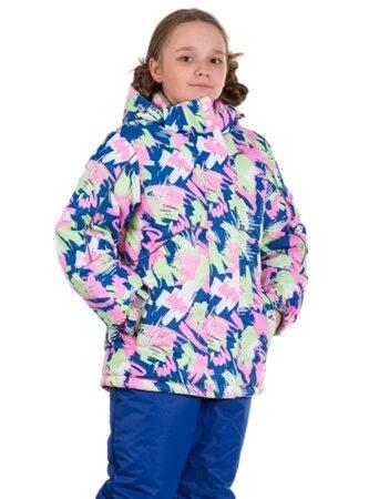 Синий детский зимний костюм для девочки