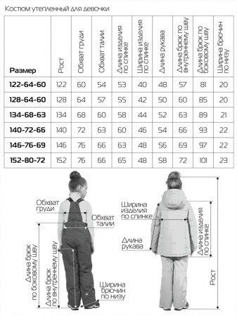 детский зимний костюм штаны на девочку 277 5