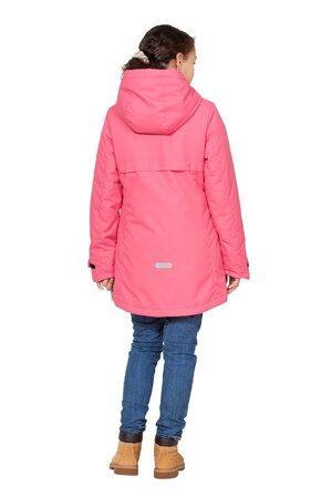 Подростковая куртка осень весна для девочки арт 271 розовая 6
