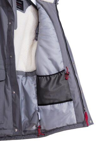 Подростковая детская зимняя куртка парка на мальчика арт 240 серая 9