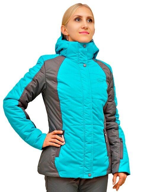 Бирюзовый женский зимний костюм для прогулок