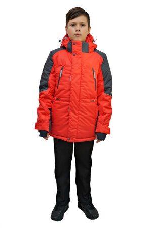 Красная зимняя куртка на подростка 2018 2019 213 1
