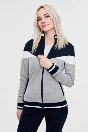 Серый женский спортивный костюм стильный 1 3