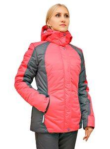 Розовый женский зимний костюм для прогулок