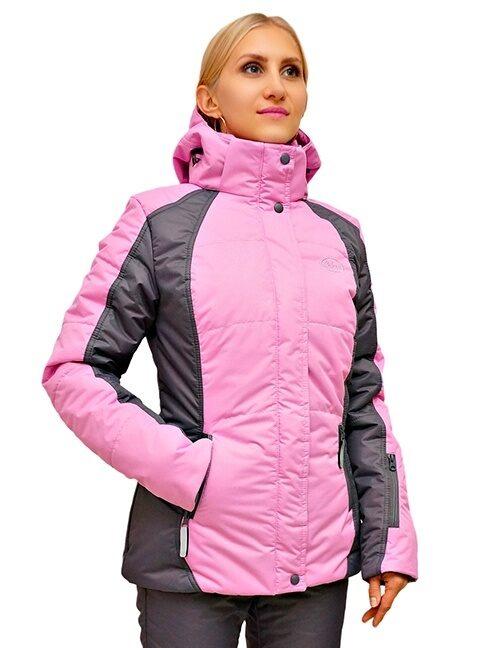 Сиреневый женский зимний костюм для прогулок 2018