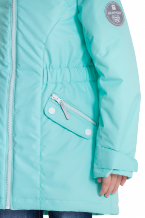 Детская куртка осень весна для девочки мятная 3