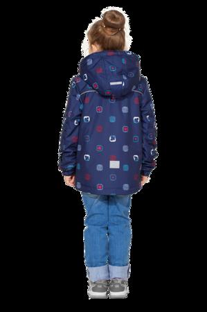 Детская демисезонная куртка арт 275 синий принт 4