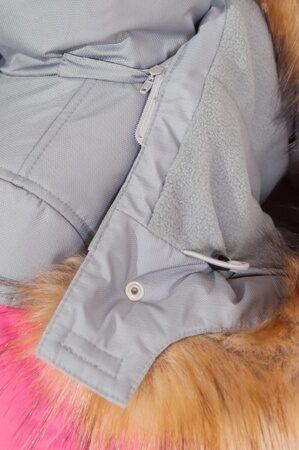 детский зимний костюм на девочку розовый подкладка 5