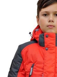 Красная зимняя куртка на подростка 2018 2019 213 6
