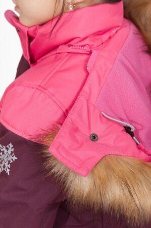 детский зимний костюм на девочку до минус 30 марсала подкл 1